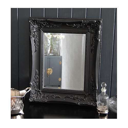 Black Ornate Mirror Wall Or Dressing Table