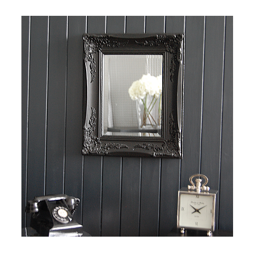 Black ornate mirror wall or dressing table for Big black wall mirror