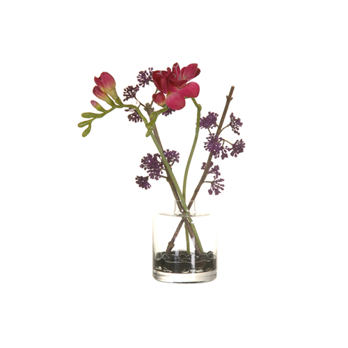 Purple Fuscia Flower in vase